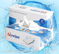 Multifunctional disposable 21*21 cm tissue hand and facial towel 80 wipes in box
