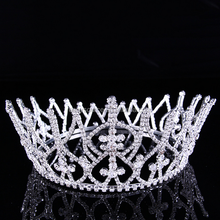 custom pageant tiara for party crystal colored rhinestone wedding decorative bridal tiara and crown