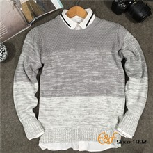 2017 New Arrival High Quality Custom Fashion Cotton Knit Men Sweater
