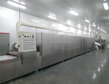 China supplier microwave drying and baking machine for mung beans