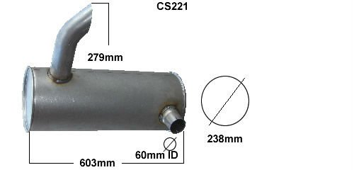 tractor and plant exhaust silencers