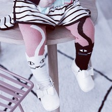 Cheap New Arrival Korean style Black and White cat cute girl pantyhose/tights