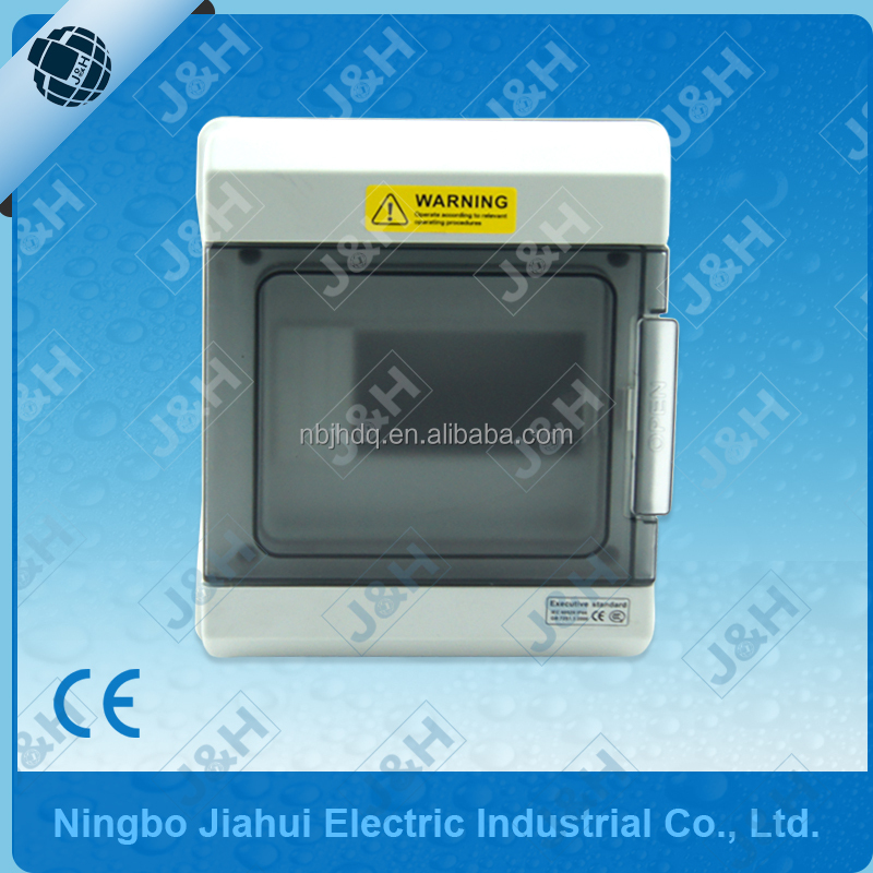 JHSD0-06 IP65 Transparent Cover Waterproof Surface Mounted Plastic Distribution Box