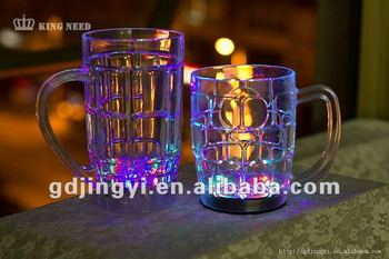 beer steins drinkware 600 ml led flashing plastic beer cups