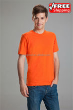 Wholesale men round neck tee shirt, 95% cotton and 5% lycra men t shirt on hot sale, cheap men t shirt small quantity accepted.