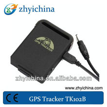Smallest waterproof gps tracker boat tk102b tracker used for car /vehicle /taxi / animal / person tracking