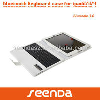slide wireless Bluetooth Detachable keyboard case for ipad 2/3/4