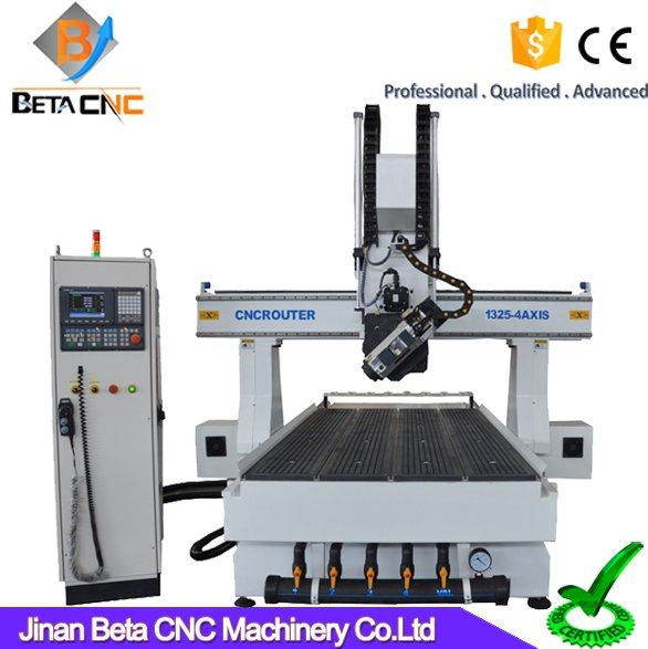 Professional 1325 4 axis woodworking cnc machine engraver router for aluminum cabinet plastic wood doors