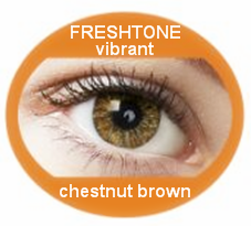 Whole sale flashy Freshtone chestnut brown exquisite color contact lenses from Korea