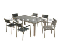 Brushed Aluminum Table,Polywood Table