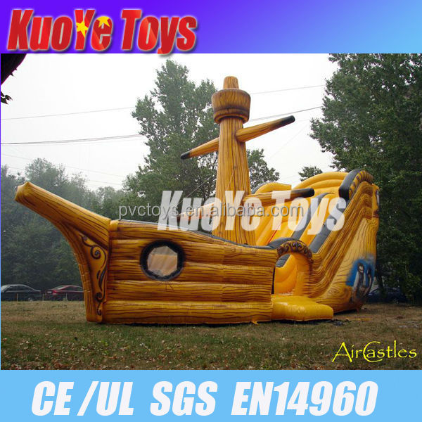 giant inflatable pirate ship slide
