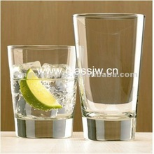 tempered drinking glass
