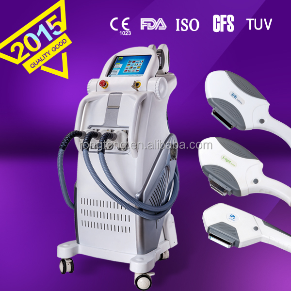 SHR +ELIGHT + IPL FOR Wrinkles reduction Skin rejuvenation Hair removal Freckles Vascular lesions Acne treatment