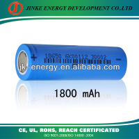 china manufacturing 3.7v rechargeable lithium ion battery 18650 1800mah