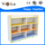 High quality kindergarten kids wooden colorful cabinet