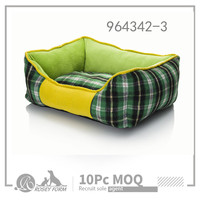 Soft Comfortable Fabric Washable Dog Pet Cat Warm Basket Bed with Fleece Lining