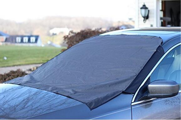 Keeps Ice & Snow Off - Top Quality Exterior Auto Snow Windshield Cover With Magnetic Edges