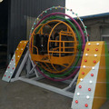 CARNEE Brand Rotating 3D Human Gyroscope Outdoor Funfair Rides with Trailer Mounted
