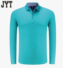 2017 New Long Sleeve Polo Shirts Dry Fit Polo Shirt with Bright Green for Golf Sports