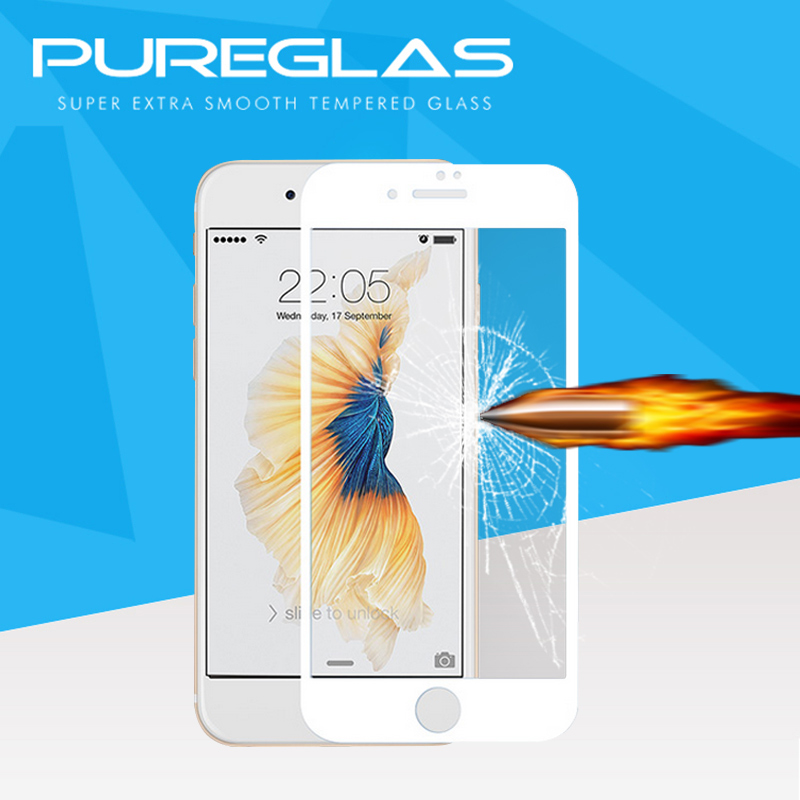 100% Precise Touch Tempered Glass 0.3mm Touch Strong Anti-Shatter 3D Full Cover Screen Protector for iphone 7 plus