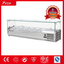 GLASS VRX PIZZA SALAD COUNTER REFRIGERATED DISPLAY CABINETS