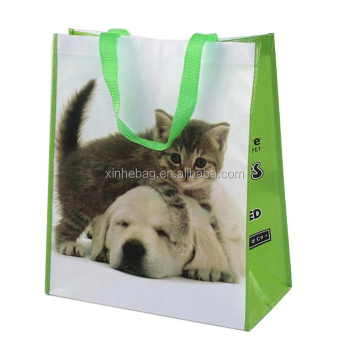 wholesale promotional glossy laminated non woven bag