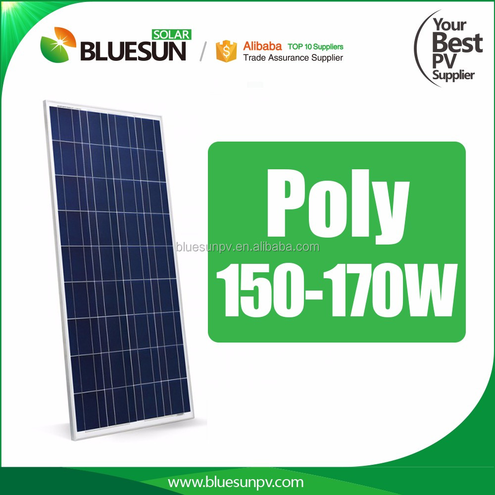 Bluesun 12v solar panel 36cells polycrystalline 150w 160w 170w