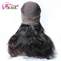 xblhair top hair suppliers virgin brazilian hair body wave 360 lace frontal wig cap