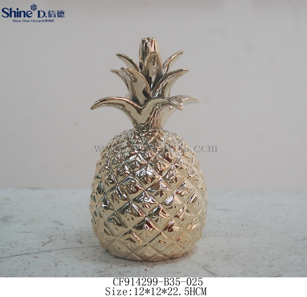 ceramic gold pineapples wholesale home decoration pieces