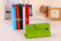 Stylish window leather case for i9190 with window