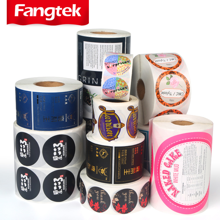 Vinyl Paper Custom Sticker Printing Adhesive Cosmetic/Food Product Box Packaging Labels