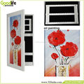 Wall cabinet women jewelry storage box modern bedroom wall decoration