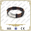 new arrival steel time jewelry mens leather bracelets