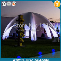 hot selling inflatable tent with led light/event,promotion,advertising decoration/inflatable spider tent