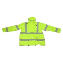Light-color jacket workwear hi-vis fluorescence green reflective/safety coat warm flight jacket police uniform