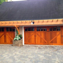 China Supplier Compressed Old Antique Wooden Flat Garage Doors Prices