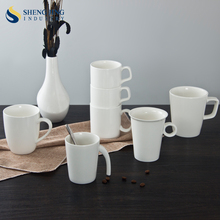Durable Porcelain 440ml Wholesale Mugs White with Handle