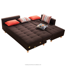 Cheap folding wooden reclining corner sofa cum bed designs