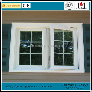 Customized window with grill design double glass window