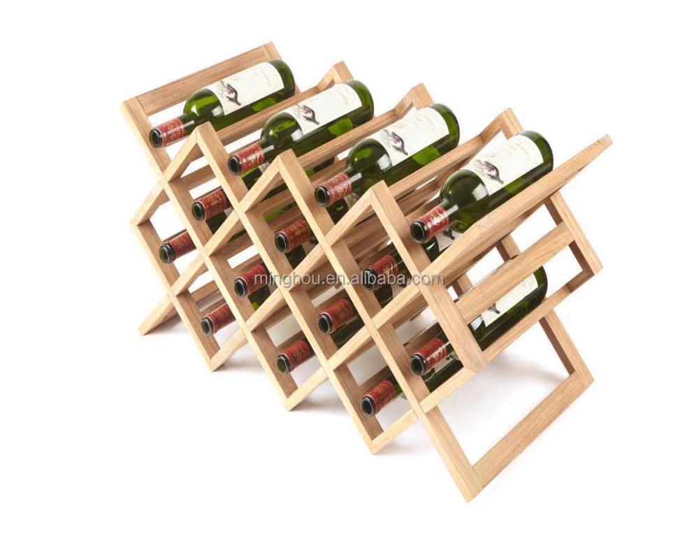 Kitchen Bar Display Shelf Classical Wooden Bottle Holder Red Wine Rack
