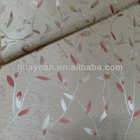 100% polyester jacquard leaf design european style curtains