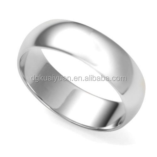 Wholesale simple design 925 sterling plain silver ring