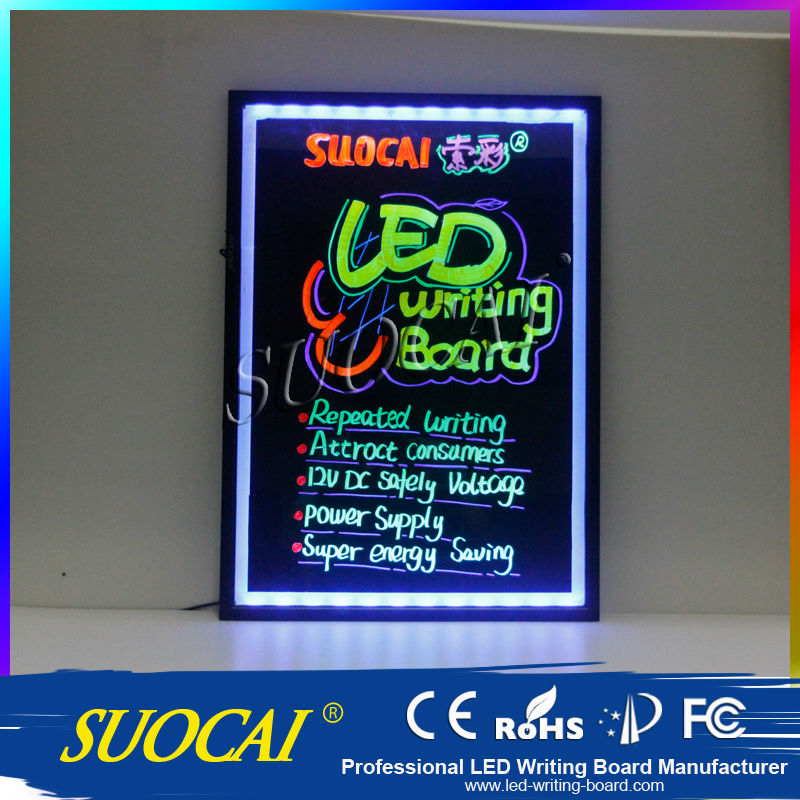 Professional Low Price Innovative Electronic Project Illuminated Chalk Menu Boards