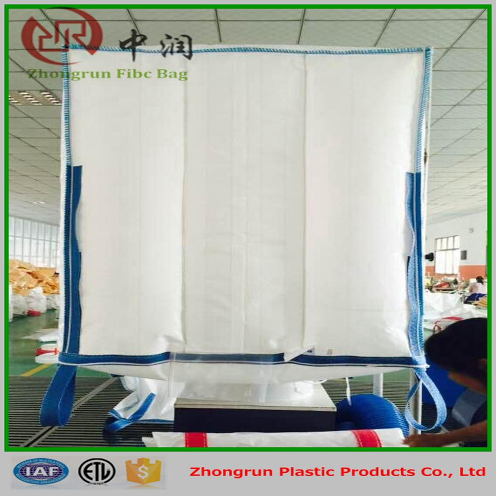 Flexible intermediate bulk container , big jumbo bags 1000kg for salt , rice , sugar , wheat , corn