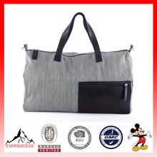 High Quality Fashion Stripe Denim Duffle Tote Bag Travel Bag Weekender Bag (ESX-LB166)