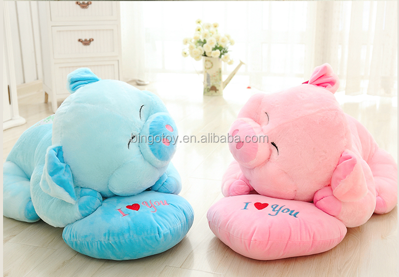 Hot sale good quality Factory custom New Designed Plush Stuffed Pink Pig Toys For Baby/Cute Pig pillow
