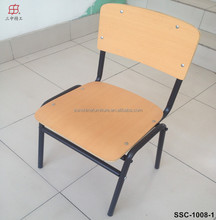 China Factory Metal Frame Single Size Plywood School Chair