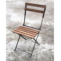 Metal french cafe Bistro garden folding chair with steel frame