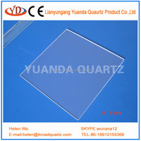 JGS1optical UV quartz glass plate and JGS1 quartz slide