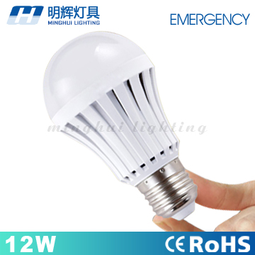 Latest Design 12W E27 Rechargeable <strong>LED</strong> Emergency <strong>Light</strong> B22 bulb lamp With CE RoHS